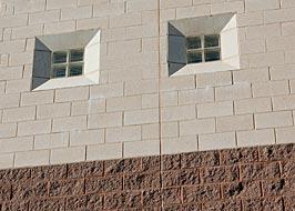 Weststandard ground face block vs split face block for Split face block house
